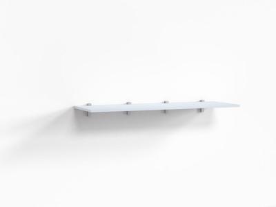 Полка Верба Г-ШН-2-4 1200х404х16_97 Белый