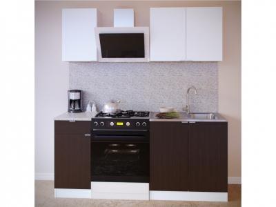 Прямой кухонный гарнитур Сокол 1200 Белый-Венге
