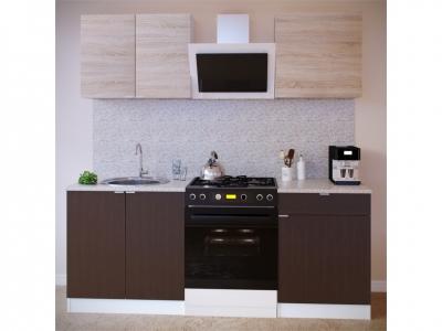 Прямой кухонный гарнитур Сокол 1400 Дуб сонома-Венге