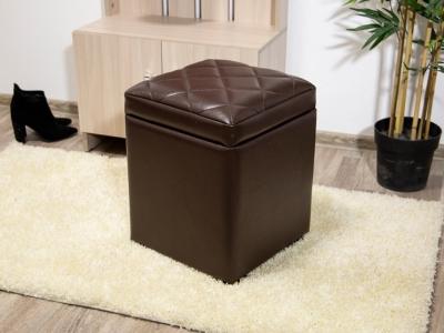 Пуф мягкий с откидным верхом эко-кожа Шоколад