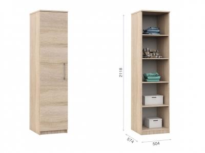 Распашной шкаф Аврора 1дв Сонома