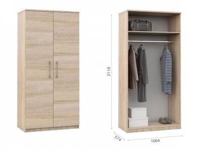 Распашной шкаф Аврора 2дв Сонома
