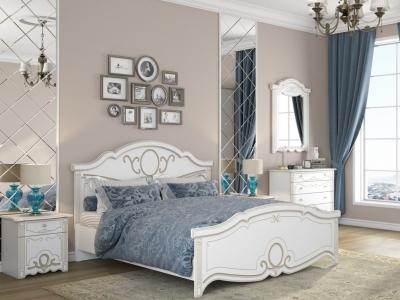 Спальня Барбара белый/патина золото