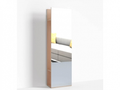 Стеллаж с зеркалом Крокус ПР-ШС-1-1 600х330х2100 Дуб девонширский