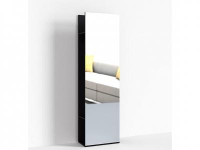 Стеллаж с зеркалом Крокус ПР-ШС-1-1 600х330х2100 Дуб Миланский