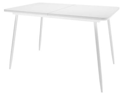 Стол Dikline Ls122 стекло белое/опоры белые