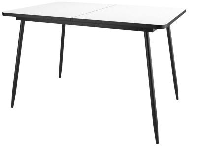 Стол Dikline Ls122 стекло белое/опоры черные
