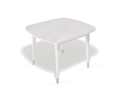 Стол Kenner K900 белый/стекло белое