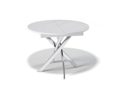 Стол Kenner R1100 белое/стекло белое