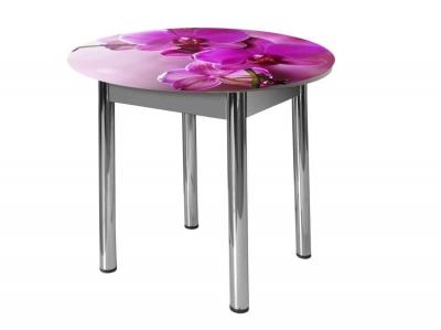Стол круглый Форт ЧС58 Орхидея за стеклом