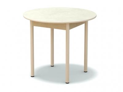 Стол обеденный круглый Венециано - ноги белые