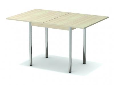 Стол обеденный раскладной Дуб млечный - ноги хром