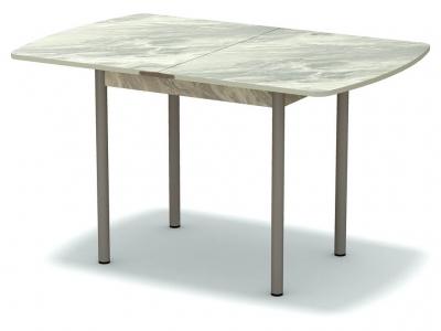 Стол обеденный раскладной закругленный Статуарио - ноги серые