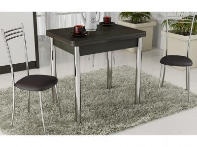Стол обеденный с хром. ножками Лион СМ-204.02.2 Венге