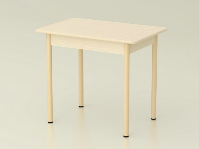 Стол обеденный закругленный Дуб млечный - ноги крем