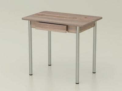 Стол обеденный закругленный с ящиком Невис - ноги хром