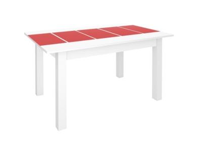 Стол Техно белый с красным