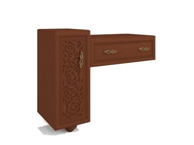 Стол туалетный Александрия ЛД 625110.000 1192х938х464 Орех