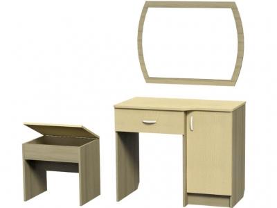 Стол туалетный комплект Афродита 750х490х910