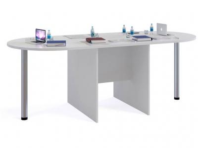 Стол для переговоров Сокол СПР-05 с 2мя приставками Белый