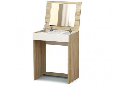 Столик туалетный Эксон Дуб сонома - Белый