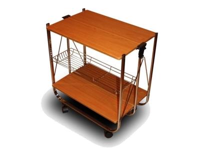 Столик сервировочный складной на колесиках SC-5119-MDF Вишня