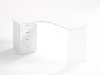 Стол компакт с тумбой 15.13.6 Белый