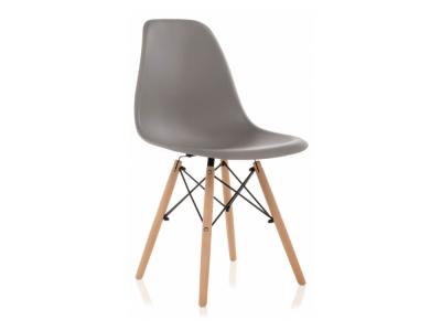 Стул деревянный Eames PC-015 серый