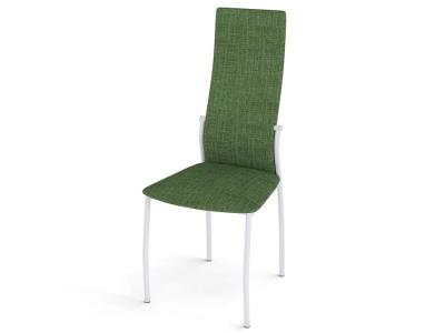Стул Галс каркас белый ткань Elain №16 зеленый