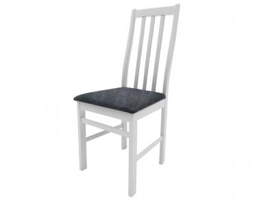 Стул Дакота белый ткань Neo 4 серый