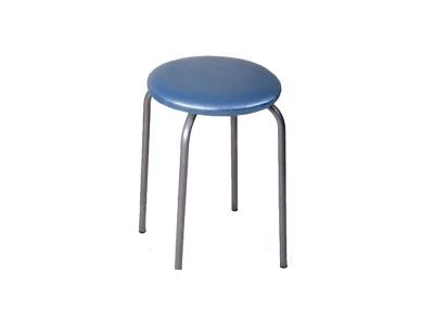 Табурет Эконом Фортпост серебристый металлик-голубой перламутр