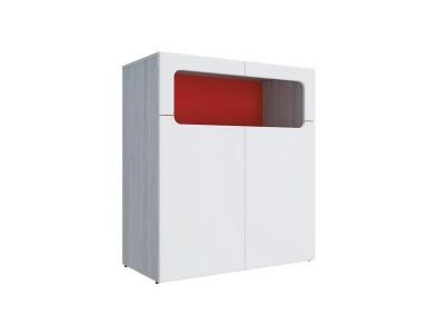 Тумба Палермо-Юниор красная вставка 902х1012х445 мм