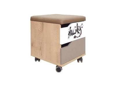 Тумба с ящиком и мягким элементом Хаски №52