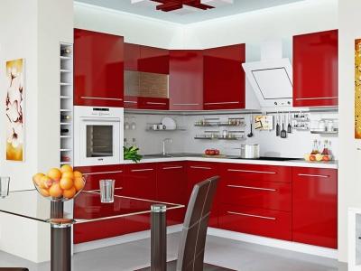 Угловая кухня Ассорти Вишня