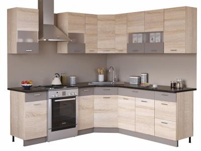 Угловая кухня Николь 1,65х2,05 сонома/латте
