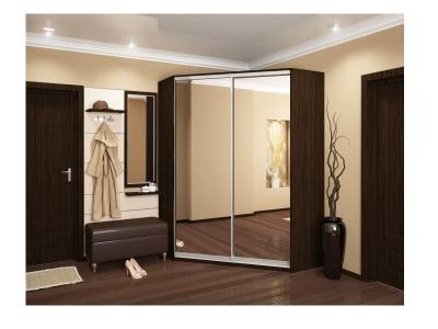 Угловой шкаф-купе Анна с 2-мя зеркалами венге