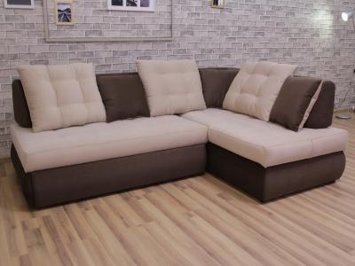 Угловой диван Бриз с оттоманкой Shaggy besee-Shaggy chocolate