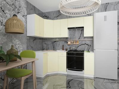 Угловой кухонный гарнитур Нарцисс 2100 с мойкой и сушкой ГКУСМ2100-5.6.2