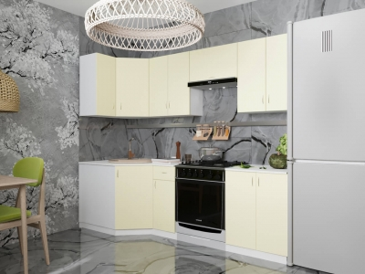 Угловой кухонный гарнитур Нарцисс 2400 с мойкой и сушкой ГКУСМ2400-5.6.2