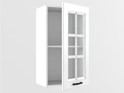 Верхний шкаф В 400 стекло 720х400х300 Белый Вегас