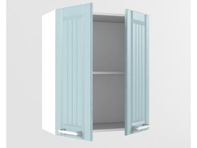 Верхний шкаф В 600 2 двери 720х600х300 Прованс Роялвуд голубой