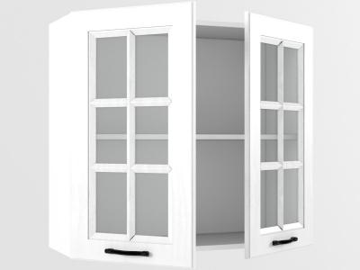 Верхний шкаф В 800 стекло 720х800х300 Белый Вегас