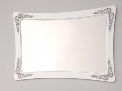 Зеркало А 2.0.6 Аделина Белый глянец-Серебро